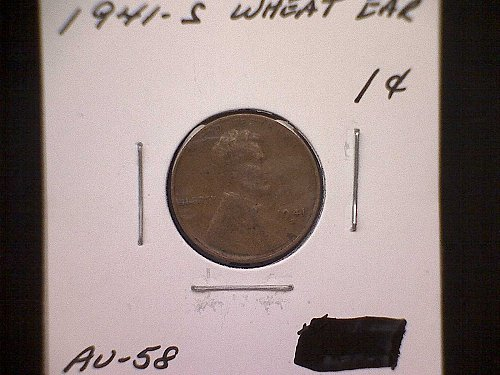 1941-S BROWN Lincoln Wheat Penny