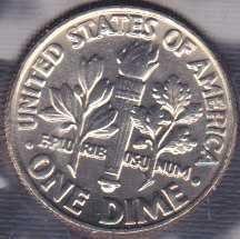 1981 D Roosevelt Dime / From mint set