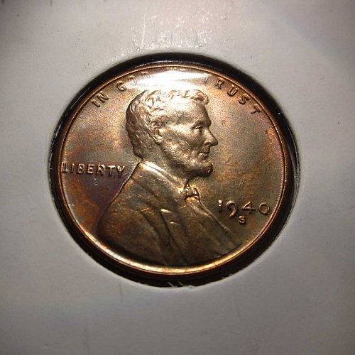 1940 S Lincoln Wheat Cent Small Cents: Nice Penny - Starting a nice blue toning