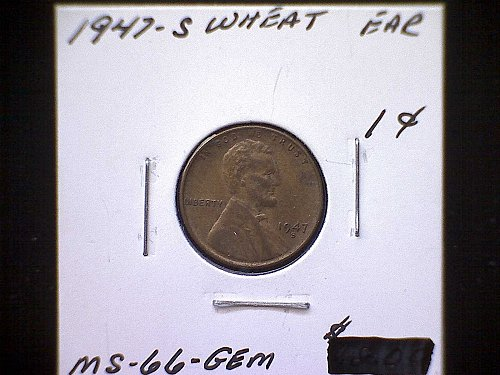 1947-S LINCOLN WHEAT PENNY