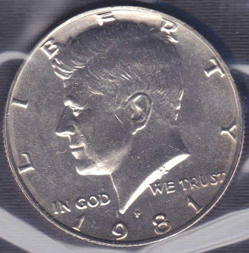 1981 P Kennedy Half Dollar / From mint set