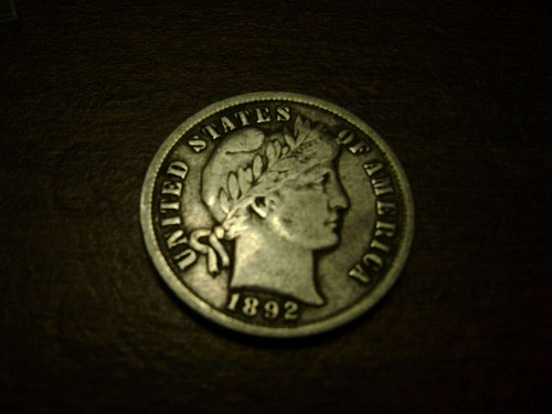 1892 VF Very Fine Barber Dime Free Shipping