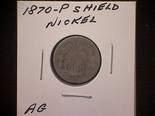 1870-P SHIELD NICKEL