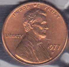 1977 D Lincoln Memorial Cent / From mint set