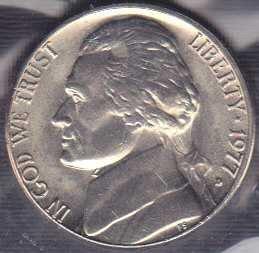 1977 D Jefferson Nickel / From mint set
