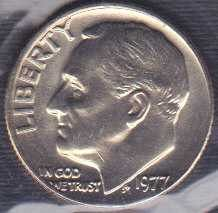 1977 P Roosevelt Dime / From mint set