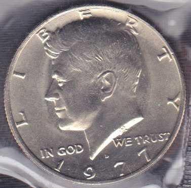 1977 D Kennedy Half Dollar / From mint set