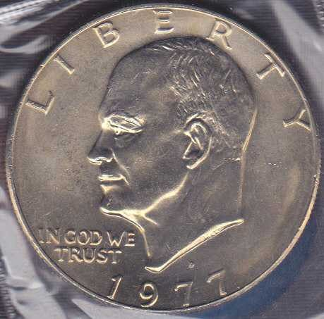1977 D Eisenhower Dollar / From mint set