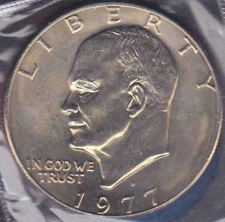 1977 D Eisenhower Dollar / From mint set