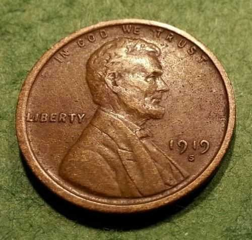1919 S Lincoln Wheat Cent - nice chocolate color