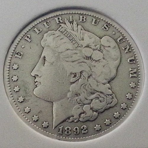 1892-CC Morgan Silver Dollar Rare Collectors Coin US Mint Coin Key Date VAM
