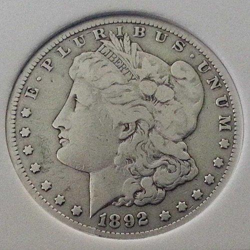 1892-CC Morgan Silver Dollar Rare Collectors Coin US Mint Coin Key Date VAM