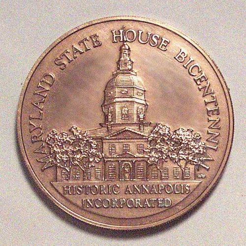 Maryland State House Bicentennial, Historic Annapolis bronze medal.