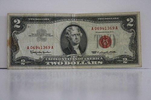 1963 $2.00 USA BANK NOTE