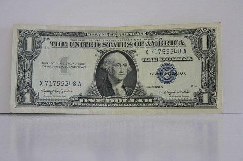 1957-B ONE DOLLAR SILVER CERTIFICATE