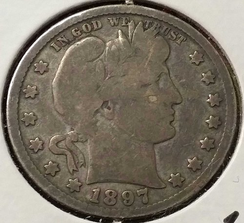 1897 O Barber Quarter - VG