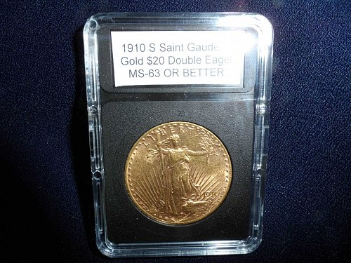 1910 S Saint Gaudens Gold $20 Double Eagle: