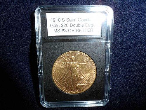 1910 S Saint Gaudens Gold $20 Double Eagle: