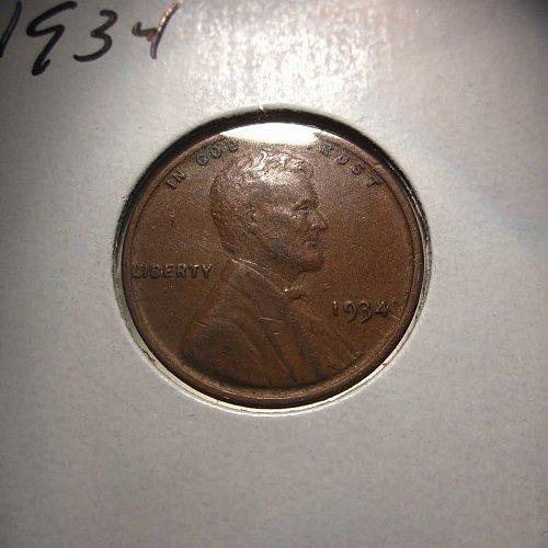 1934 Lincoln Wheat Cent Small Cents: Nice Penny