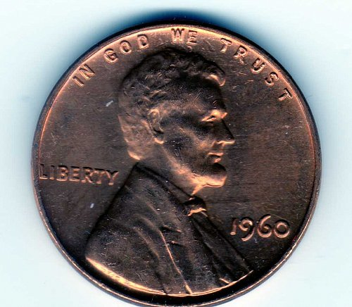 1960-P LINCOLN MEMORIAL PENNY