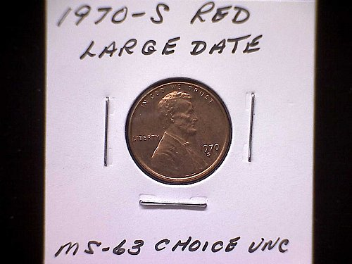 1970 S LINCOLN MEMORIAL PENNY LARGE DATE