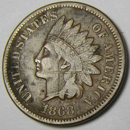 1868 P Indian Head Cent #3