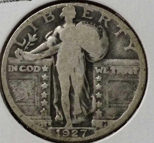 1927 S Standing Liberty Quarter - Good