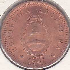 Argentina 2 Centavos 1947