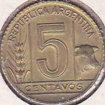 Argentina 5 Centavos 1944