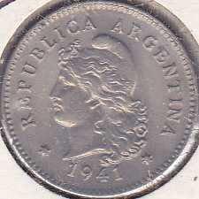 Argentina 10 Centavos 1941