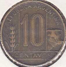 Argentina 10 Centavos 1949