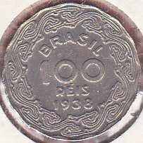Brazil 100 Reis 1938