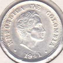 Colombia 10 Centavos 1941