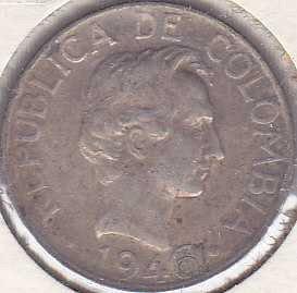 Colombia 20 Centavos 1946B