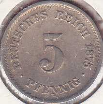Germany 5 Pfennig 1875F