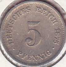 Germany 5 Pfennig 1875F