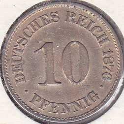 Germany 10 Pfennig 1876A