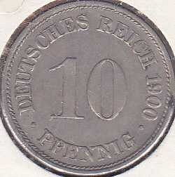 Germany 10 Pfennig 1900D