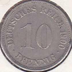 Germany 10 Pfennig 1900D