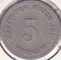 Germany 5 Pfennig 1897A