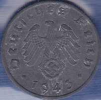 Germany 1 Reichspfennig 1943A