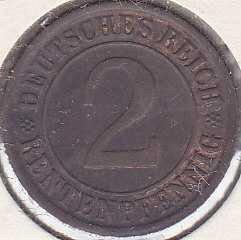 Germany 2 Rentenpfennig 1924J
