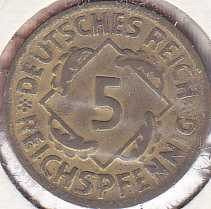 Germany 5 Reichspfennig 1925A