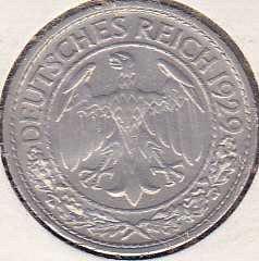 Germany 50 Reichspfennig 1929A