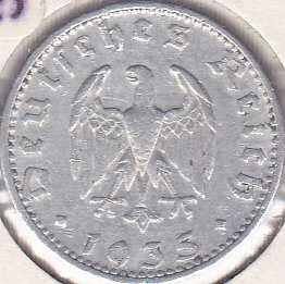 Germany 50 Reichspfennig 1935D