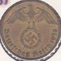 Germany 10 Reichspfennig 1938F