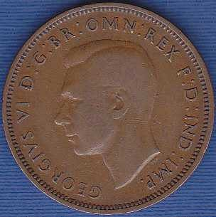 Great Britain 1/2 Penny 1939