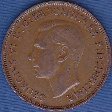 Great Britain 1 Penny 1947