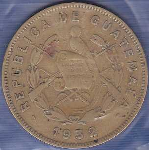 Guatemala 2 Centavos 1932