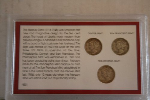 SILVER MERCURY DIME MINT MARK COLLECTION